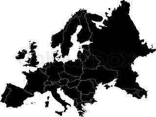 Abstrakte europe Vektor-Karte auf weiß