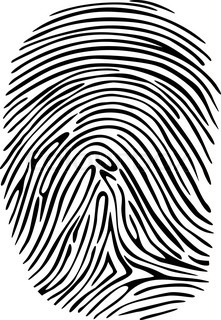 Criminal fingerprint for detective, sequrity orprivacy design concepts