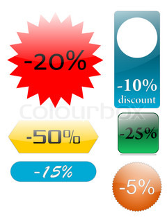 Set of discount icons, created with inkscape.