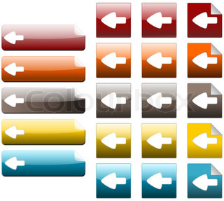 Set of left arrow icon, created with inkscape.