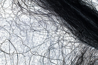 Black and white hairs (or wires) as an abstract background