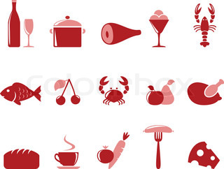 Icons food set
