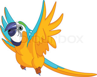 Illustration af glade Flying Parrot