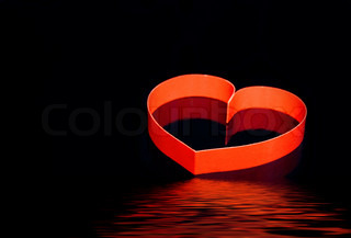 St. Valentine Day. Couple of hearts, on black background