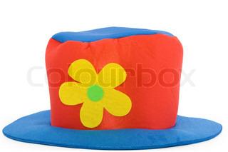 Clown Hut über weißem Hintergrund