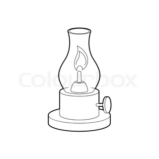 Gas Lamp Icon Outline Style
