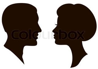 Mann und Frau Gesichter Vektor profile