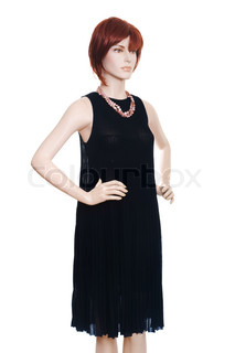 mannequin with clothing isolated on white stock photo
