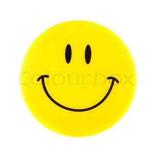 Smiley Face isoleret på en hvid baggrund