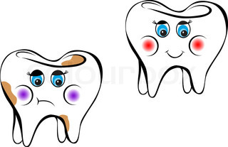 White tooth as a health concept or symbol