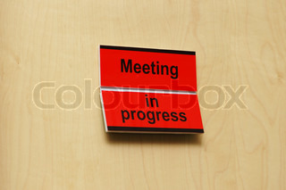 Meeting room with label