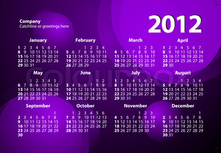 creative and colorful 2012 calender design templates