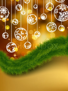 Elegant golden christmas background. EPS 8 vector file included