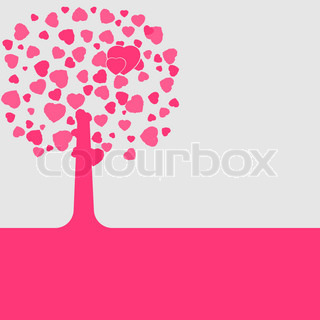 Love shape valentine's card. EPS 8 vector file included
