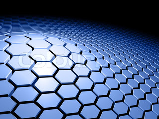 Abstract and colored 3d background with honeycomb pattern