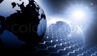 an abstract 3d background - Business or communication concept