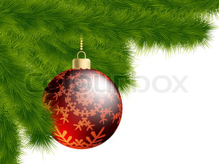 Christmas-tree and decoration ball. EPS 8 vector file included