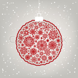 Retro template - Beautiful Christmas ball illustration. EPS 8 vector file included