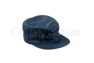 blue cap isolated on a white background