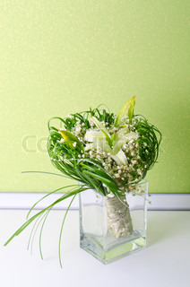 Wedding Bunch of flowers in a vase