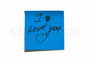 Sticky post it note with