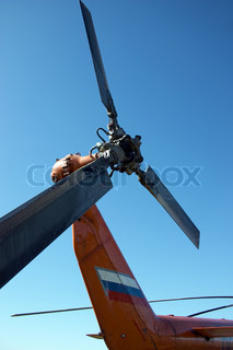 The keel propeller of helicopter MI-8