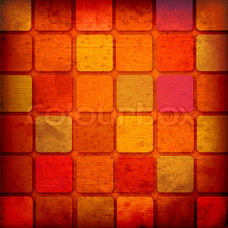 grunge red squares on a white background