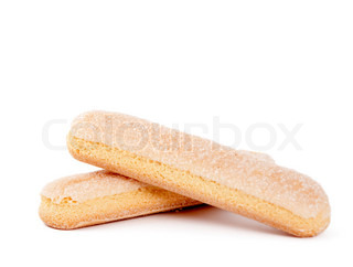 Italian biscuit sticks on a white background