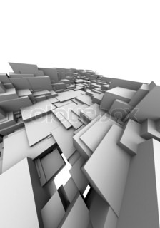 A 3d architectural design on white background