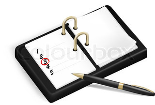 Notepad. Vector illustration.