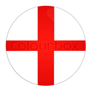 Abstract illustration: button with flag from England country