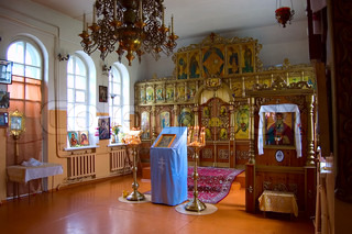 Interior of Orthodox church in a  small town