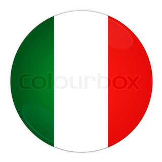 Abstract illustration: button with flag from Italy country