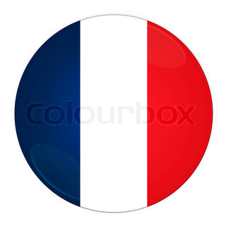 Abstract illustration: button with flag from France country