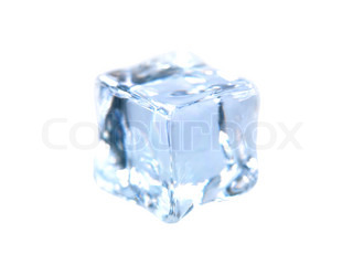 Ice cubes isolated against a white background