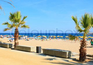 Beaches, coast in Spain near Barcelona.