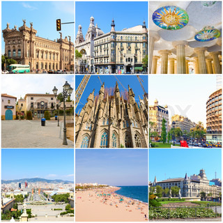 Collage- All Beauty Barcelona. Spain