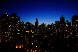 New York City Evening Skyline