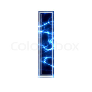 3d electric letter isolated on a white background - l