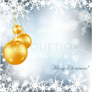 elegant vector background with snowflakes and decoration. Eps10