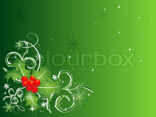 abstract vector Christmas background  in green colors