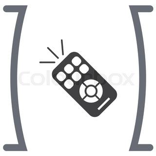 tv remote clipart black and white. tv remote controll vector icon tv clipart black and white