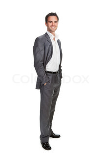 Portrait of confident business man isolated over white