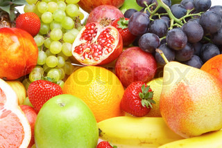 Ripe fresh fruit. Healthy food.