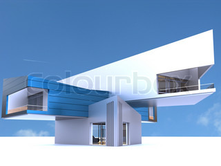 conception of an architecture for the modern steel construction of a museum