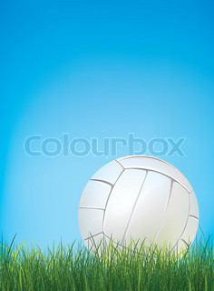 Volleyball Ball with Grass. Vector.