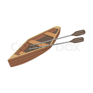 Wooden Peddle Type Of Boat Icon
