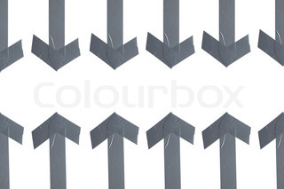 a set of high resolution scotch arrows on white