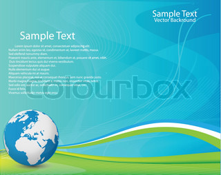 Business Green Background, Layout Vector