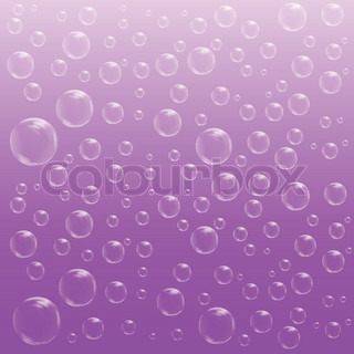 Water Bubbles Vector Background